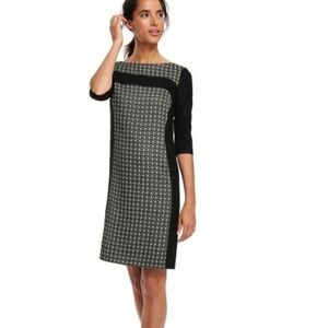BODEN Workwear Panel Dress Black Dot {B15}